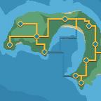Insel mit Orten
