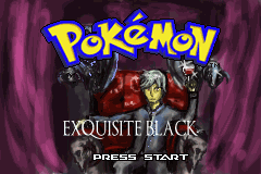 Pokemon Exquisite Black Titlescreen Überarbeitet