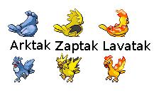 Arktak, Zaptak, Lavatak Sprites