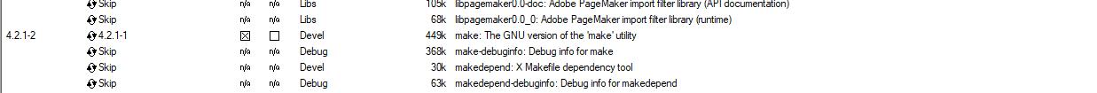 Screenshot Cygwin Installation